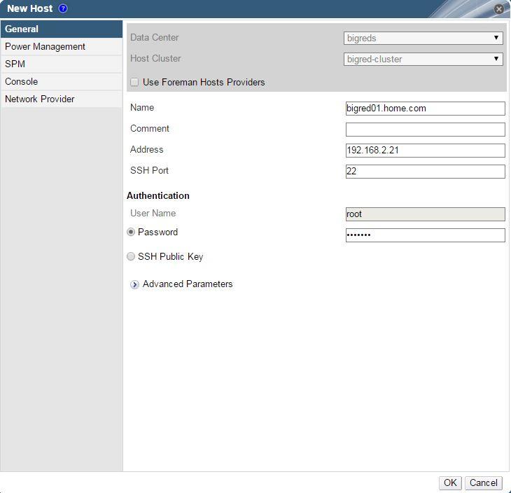 Red Hat Enterprise Virtualization (RHEV) – Hypervisor Host